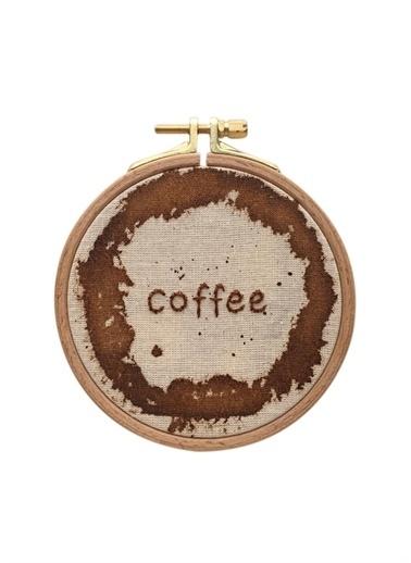 Boyner Evde Gh040 13 Cm Coffe Baskılı Duvar Panosu Ekru